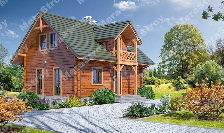 Строительство деревянных домов из профилированного бруса с м.